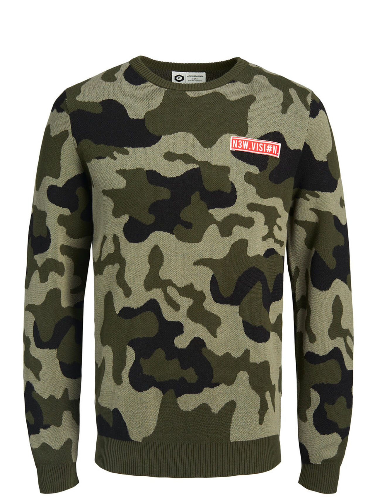 Camo Knitted Pullover