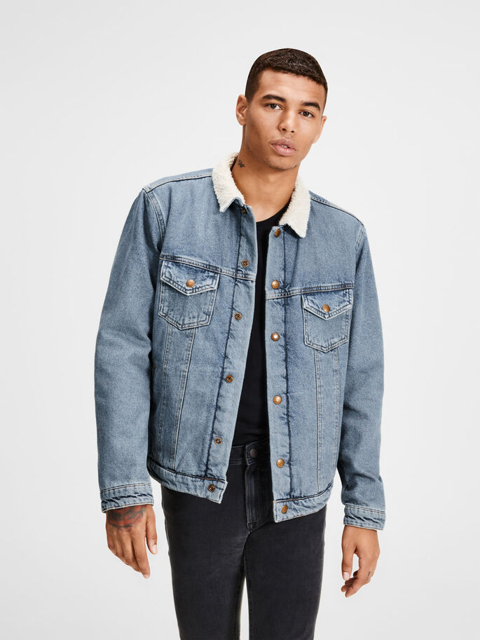 ALVIN JACKET JOS 309 DENIM JACKET, Blue Denim, large