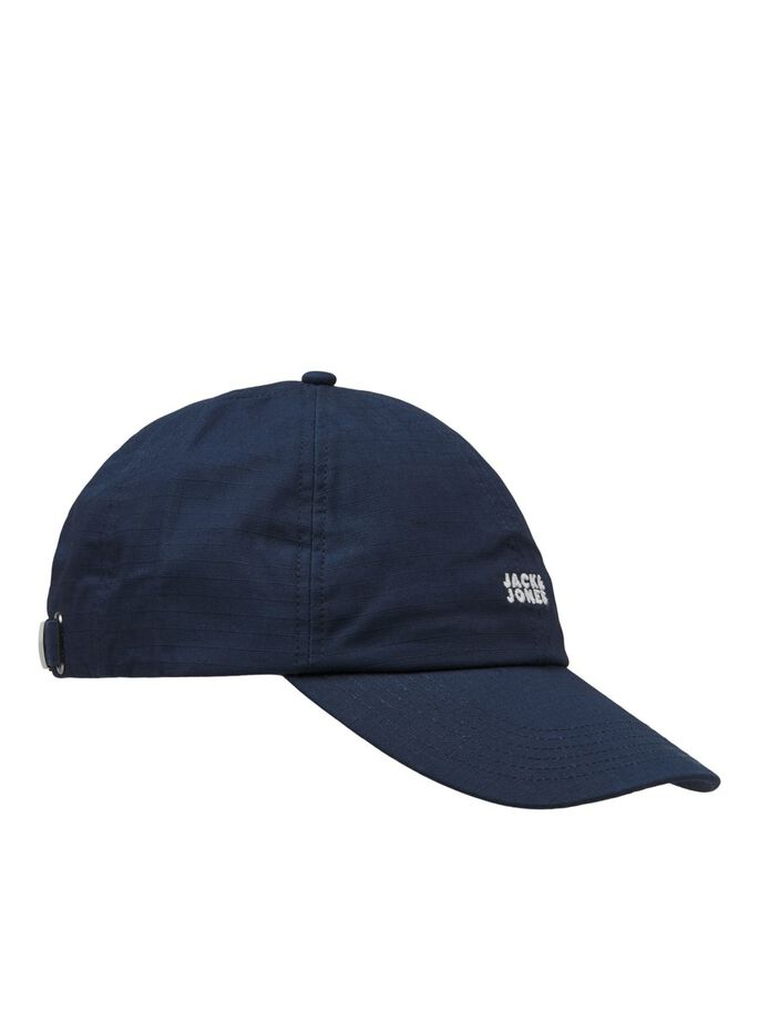 LOGO EMBROIDERY DAD CAP, Navy Blazer, large