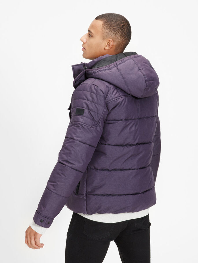 QUILTED PUFFER JACKET, Nightshade, large