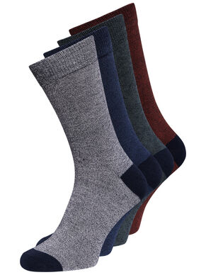 PACK DE 4 PARES DE COLORES CALCETINES
