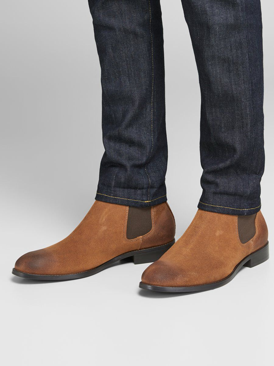 waxed suede chelsea boot factory outlet