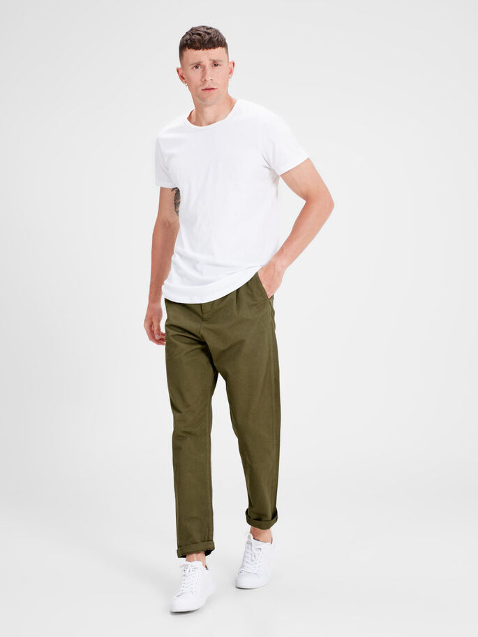JEFF CROP TRENDY AKM CHINO, Olive Night, large