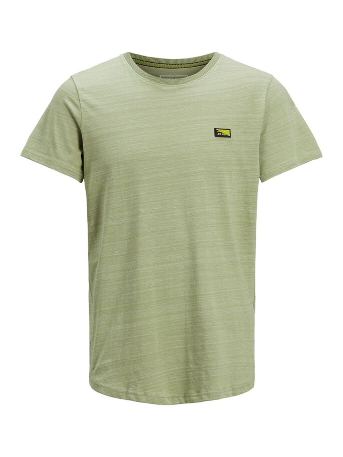 SLIM FIT LOGO T-SHIRT, Oil Green, large