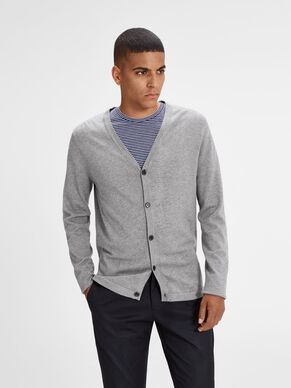 MELANGE KNITTED CARDIGAN