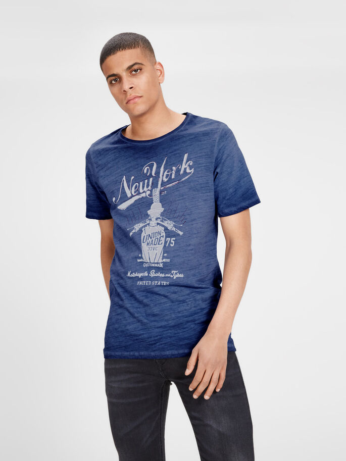 TRYCKT T-SHIRT, Mood Indigo, large