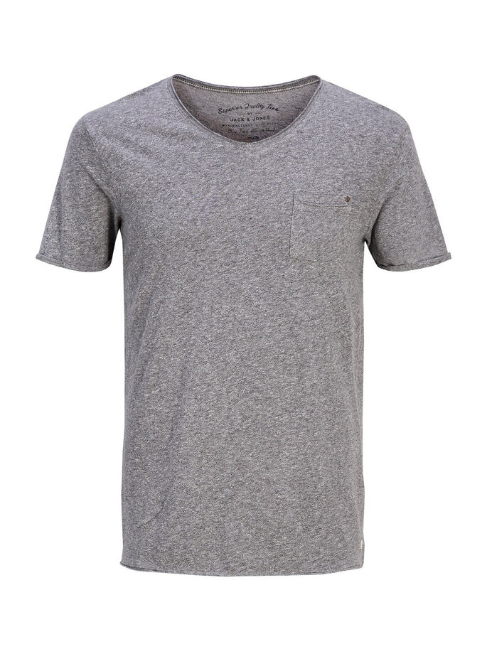 PLAIN T-SHIRT, Light Grey Melange, large