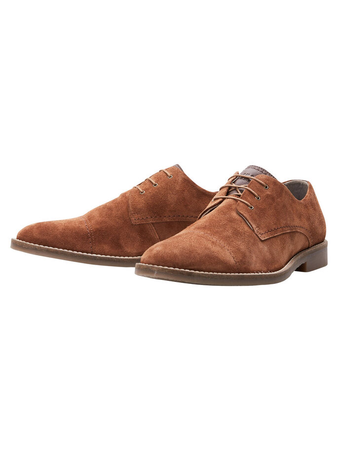SUEDE SHOES, Cognac, large