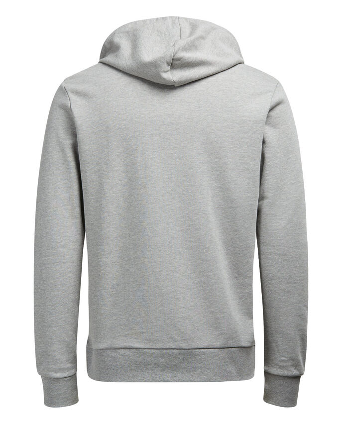 LÄSSIGER HOODIE, Light Grey Melange, large