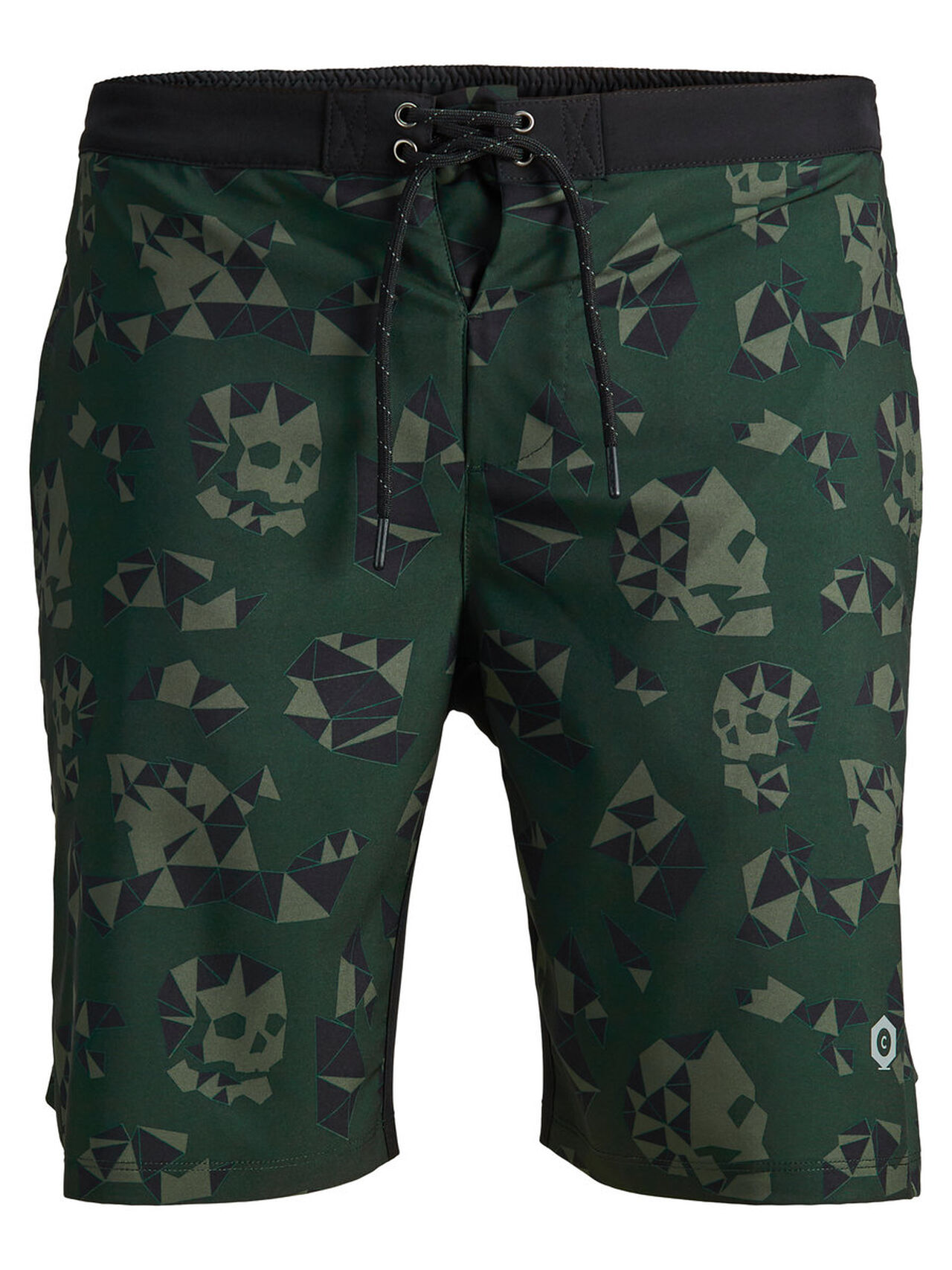 JACK & JONES Camo Shorts Men green