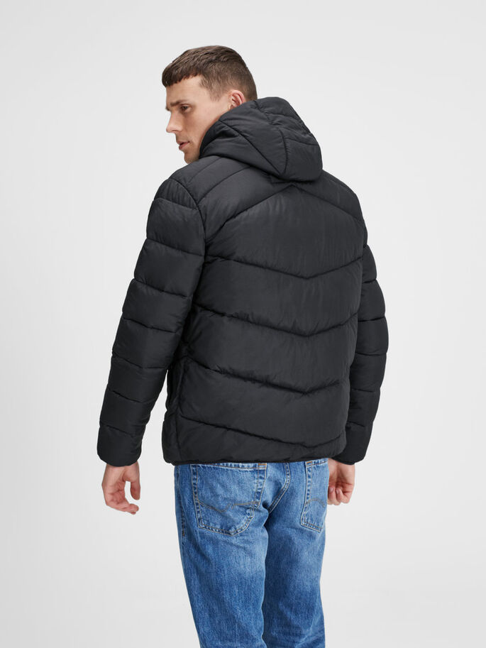 ON-TREND PUFFER JACKET, Black, large