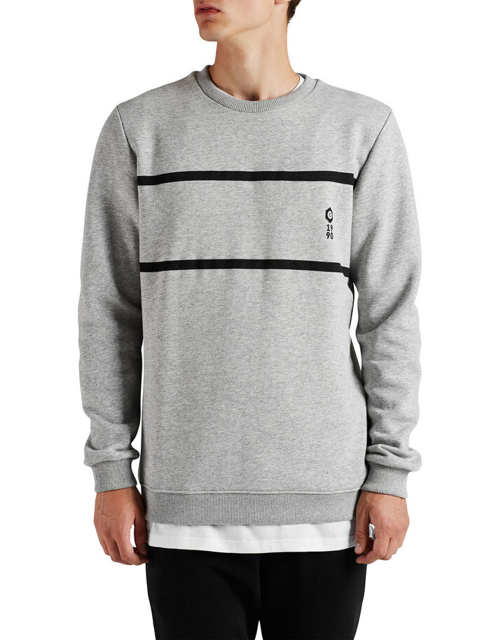 DE COLORES EN CONTRASTE SUDADERA, Light Grey Melange, large