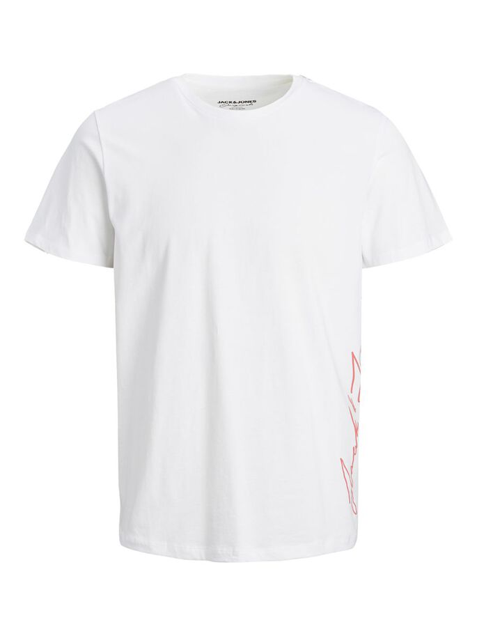 COTTON T-SHIRT, White, large