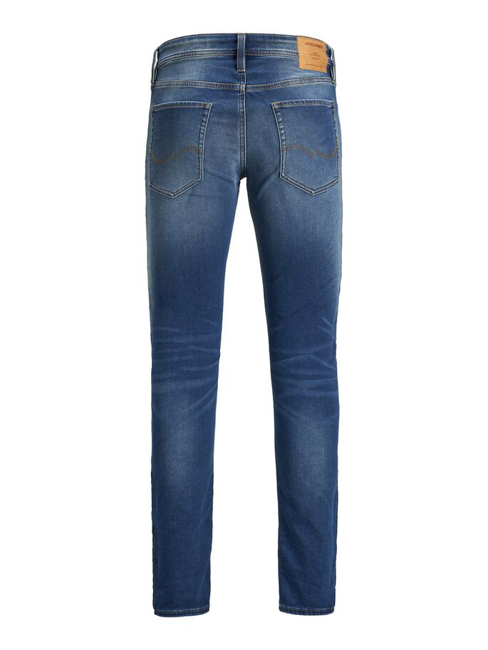 GLENN ORIGINAL GE 006 INDIGO KNIT SLIM FIT JEANS, Blue Denim, large