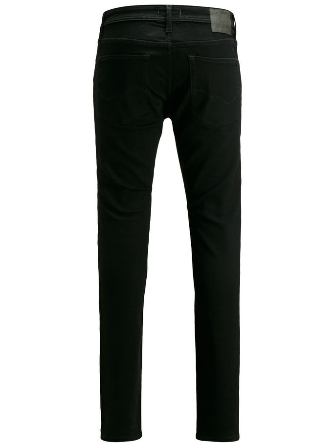 LIAM ORIGINAL AM 692 SKINNY FIT JEANS, Black Denim, large
