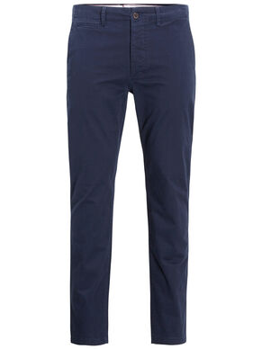 MARCO ENZO NAVY SLIM FIT CHINOS