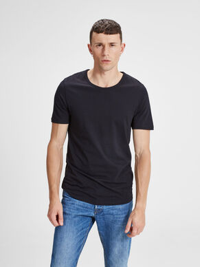 EINFARBIGES REGULAR FIT T-SHIRT