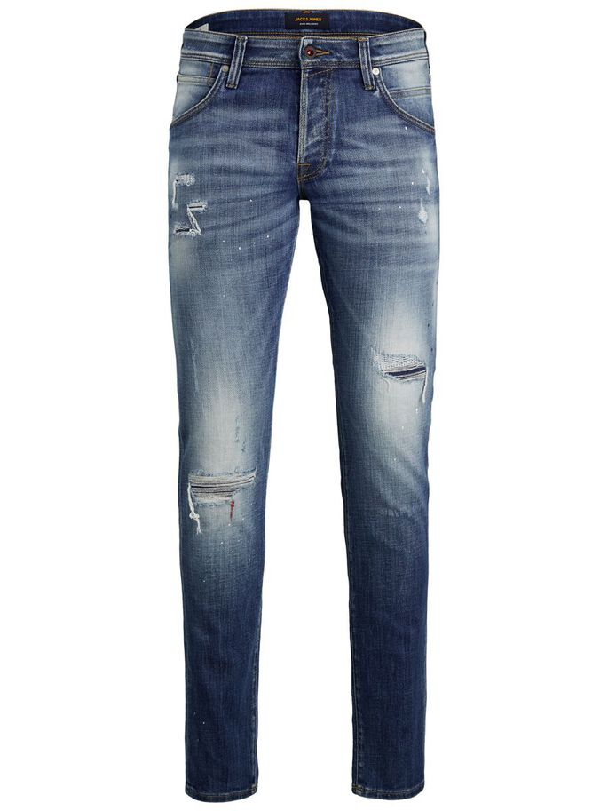 GLENN FOX GE 740 JEANS SLIM FIT, Blue Denim, large