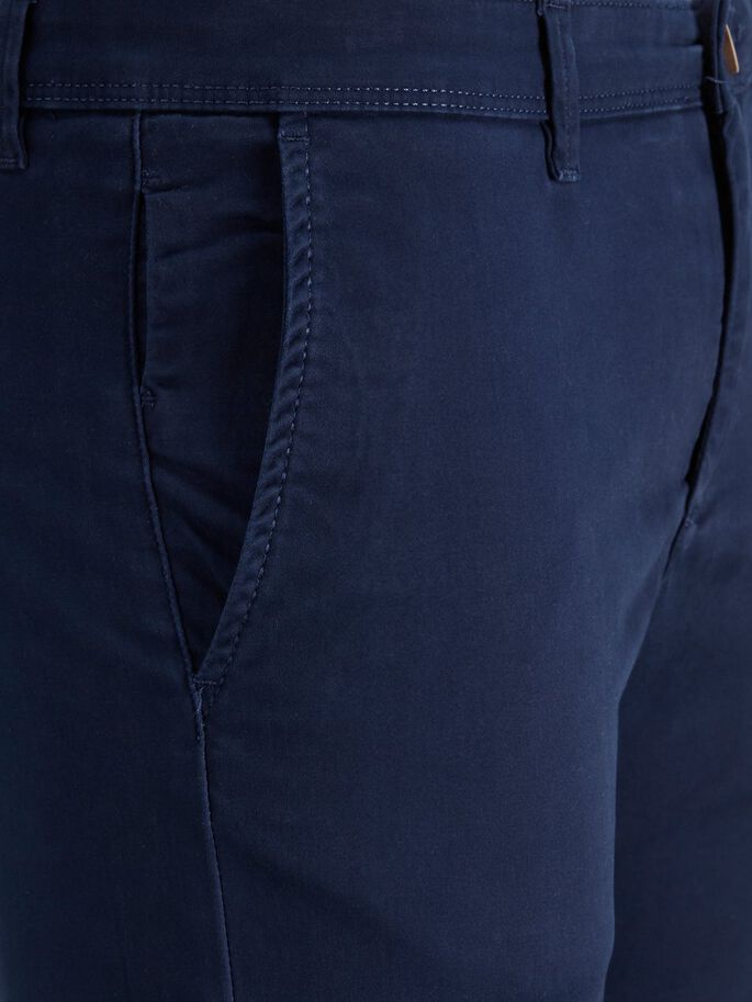 Trousers Jack /& Jones 12150148 Man Blue Slim Fit Marco Pants Casual Chinos Cotto