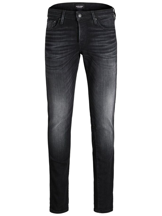 GLENN ICON 557 50SPS SLIM FIT JEANS, Black Denim, large