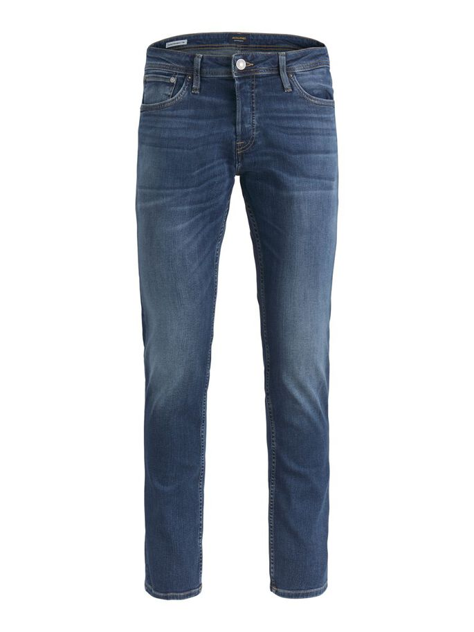 TIM ORIGINAL CJ 809 SLIM/STRAIGHT FIT JEANS, Blue Denim, large