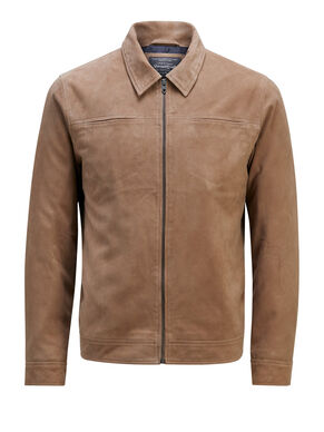 SUEDE TRUCKER LEATHER JACKET