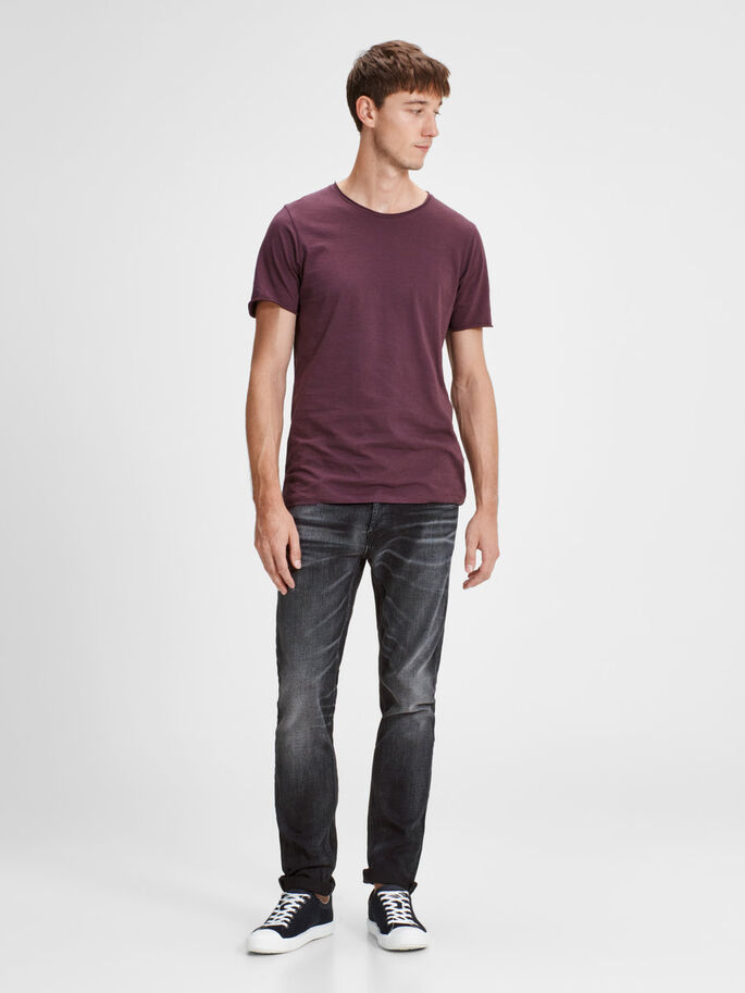 TIM ORIGINAL 023 SLIM FIT JEANS, Black Denim, large