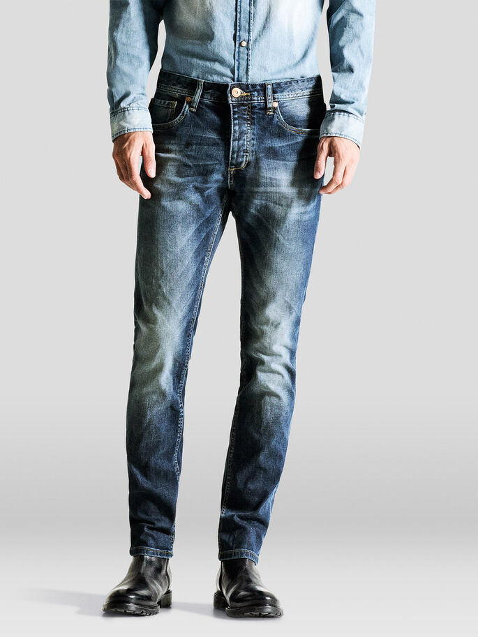 TIM ORIGINAL AT 984 SLIM FIT JEANS, Blue Denim, large