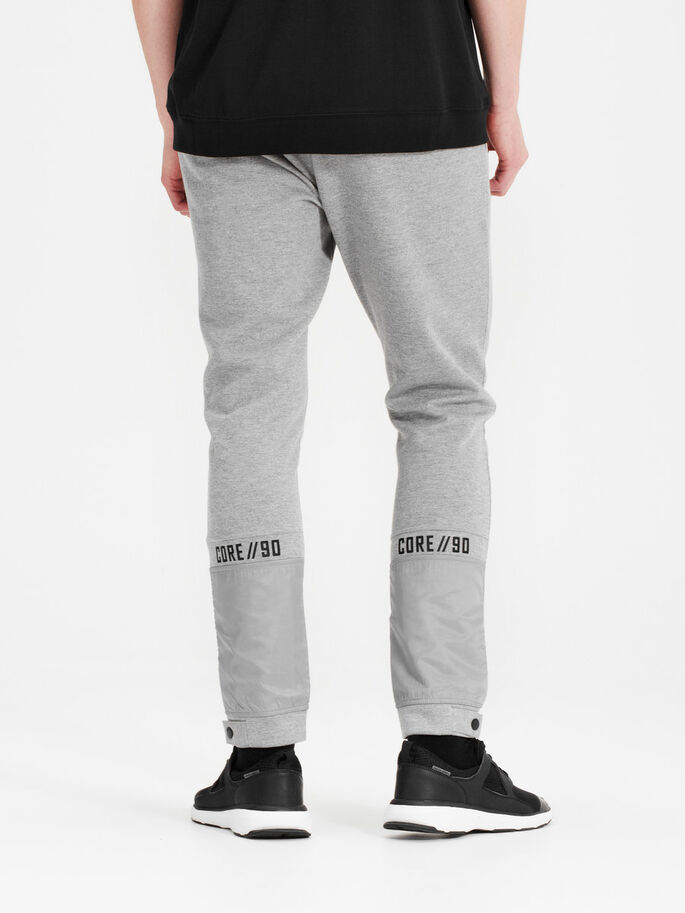 DETAILED SWEAT PANTS, Light Grey Melange, large