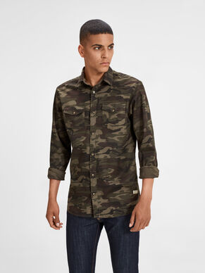 CAMO LONG SLEEVED SHIRT