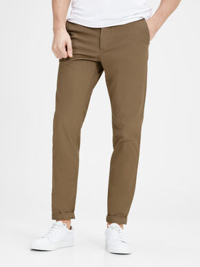MARCO ENZO TAN PANTALONI CHINO SLIM FIT