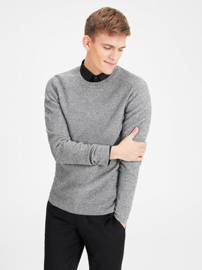 STRUCTURE KNITTED PULLOVER