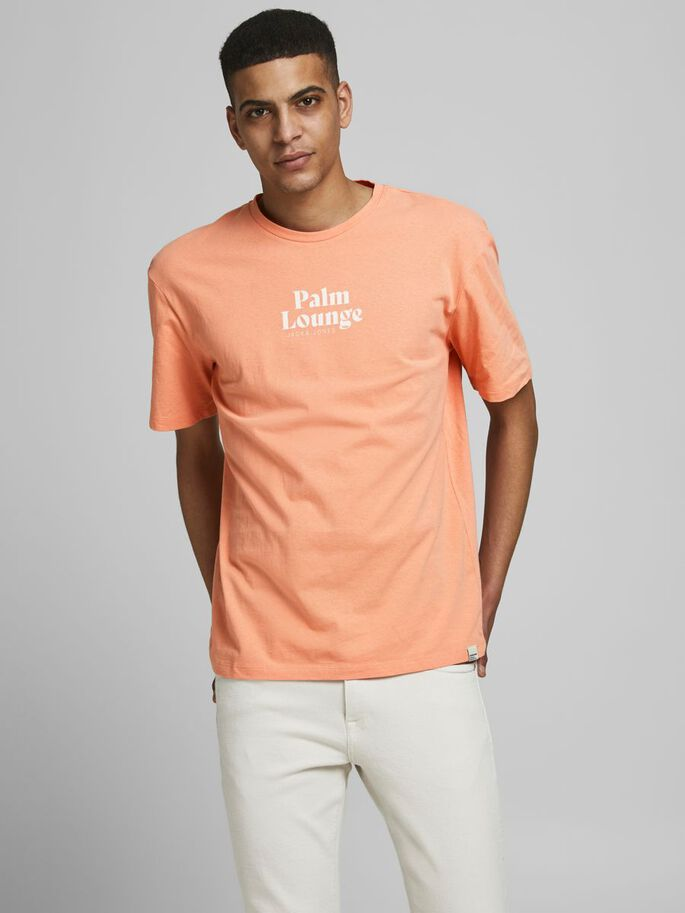 STATEMENT-PRINT T-SHIRT, Shell Coral, large