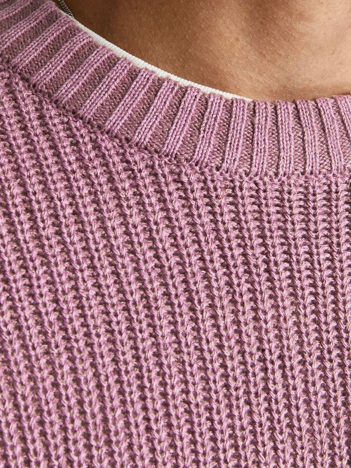 TEXTURED KNITTED JUMPER, Bordeaux, large