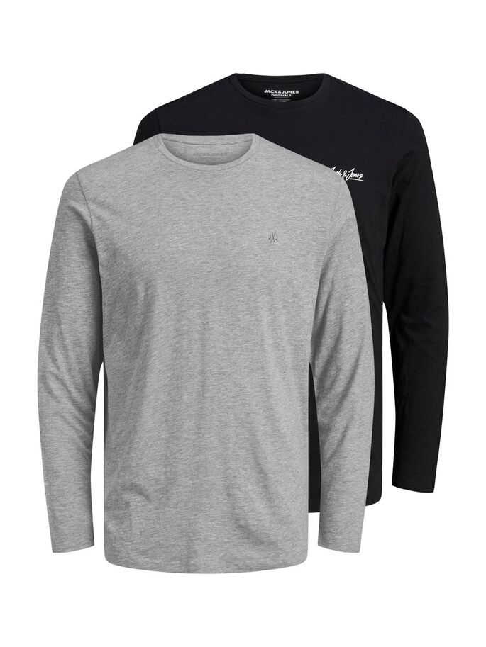 2ER-PACK LONGSLEEVE, Black, large