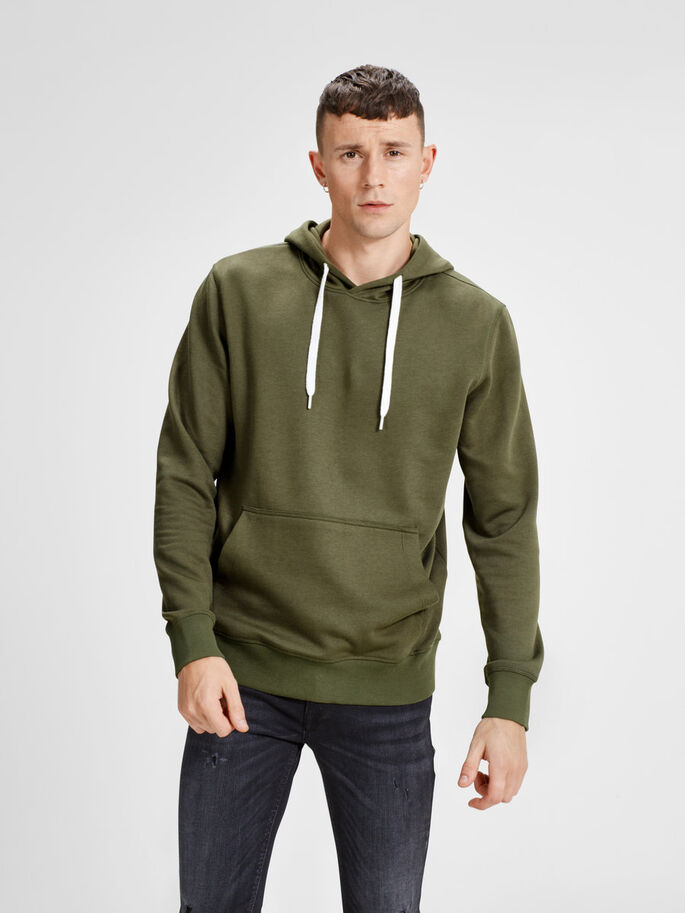 CASUAL SWEAT-SHIRT, Olive Night, large