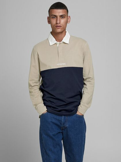 REGULAR FIT LANGARM-POLOSHIRT