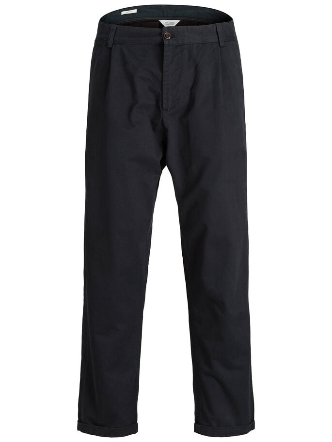 JEFF TRENDY AKM CHINOS, Black, large