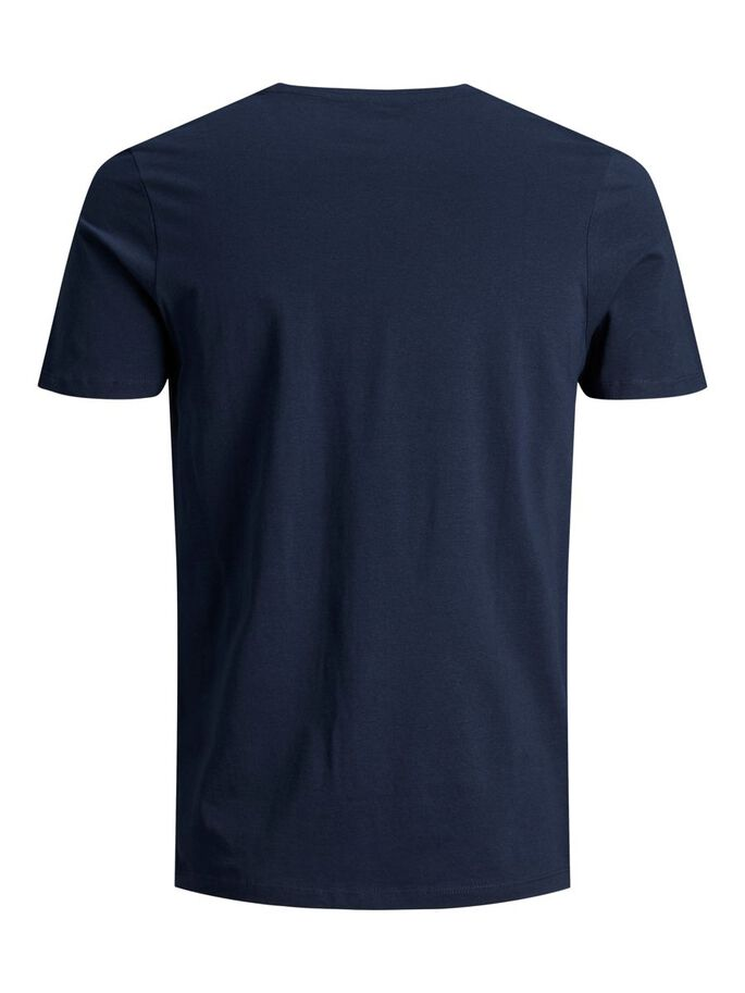 SLIM FIT LOGO PRINT T-SHIRT, Navy Blazer, large