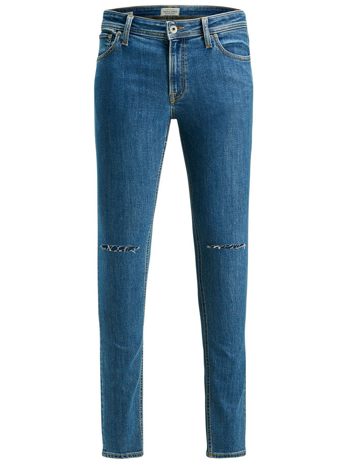 LIAM ORIGINAL AM 696 SKINNY FIT JEANS, Blue Denim, large