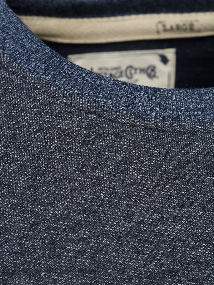 CHINÉ COL RAS-DU-COU SWEAT-SHIRT, Mood Indigo, large