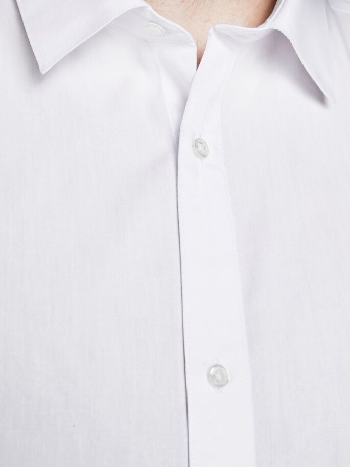 2-PACK SOLID PLUS SIZE SHIRT, White, large