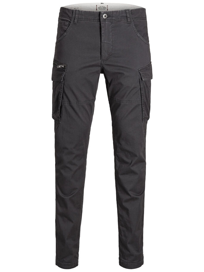 PAUL CHOP WW ASPHALT CARGO PANTS, Asphalt, large