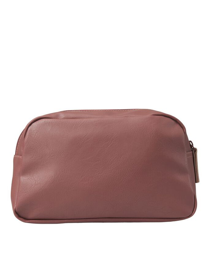 PU LEATHER TOILETRY BAG, Cognac, large