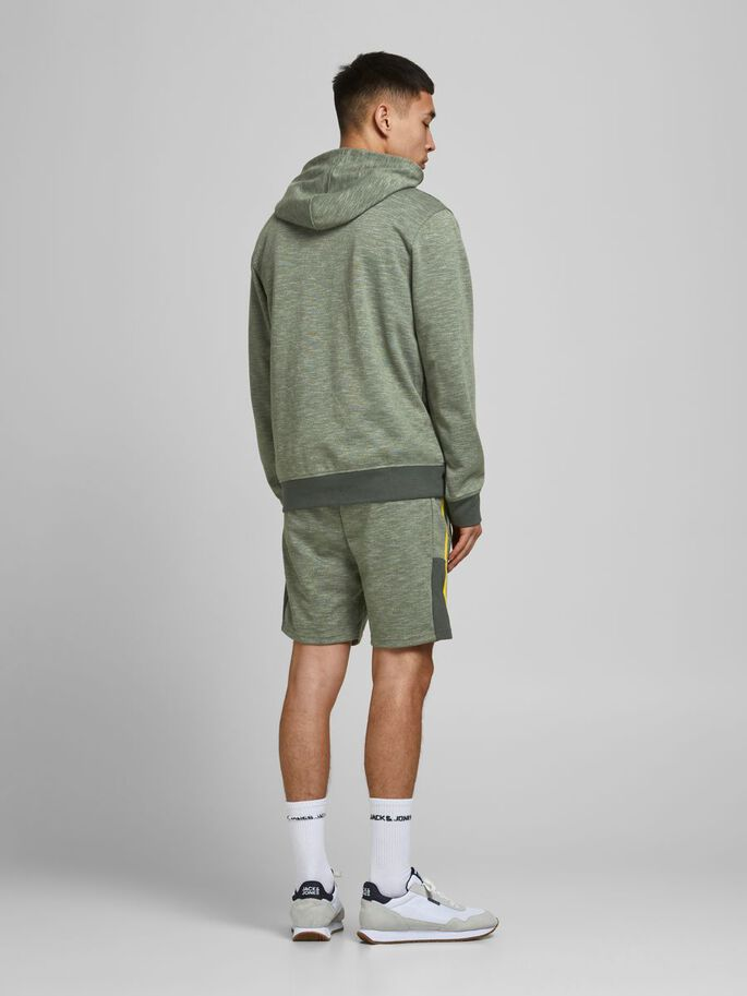SPORTY NB SWEATSHORTS, Oil Green, large