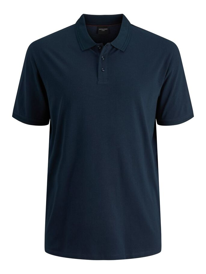 STRETCH PLUS SIZE POLO, New Navy, large