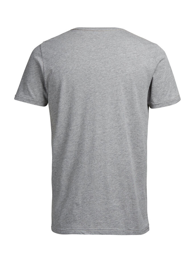 AUFNÄHER-PRINT T-SHIRT, Light Grey Melange, large