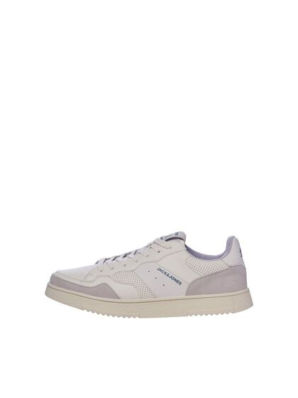 BOYS FAUX LEATHER MESH SNEAKERS