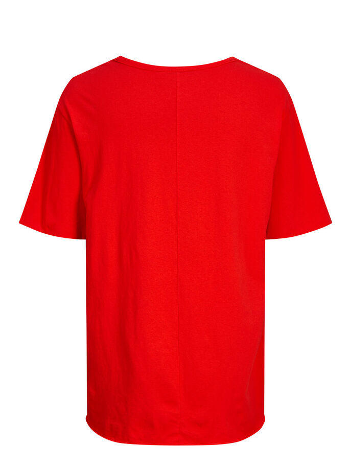 CASUAL T-SHIRT, Fiery Red, large