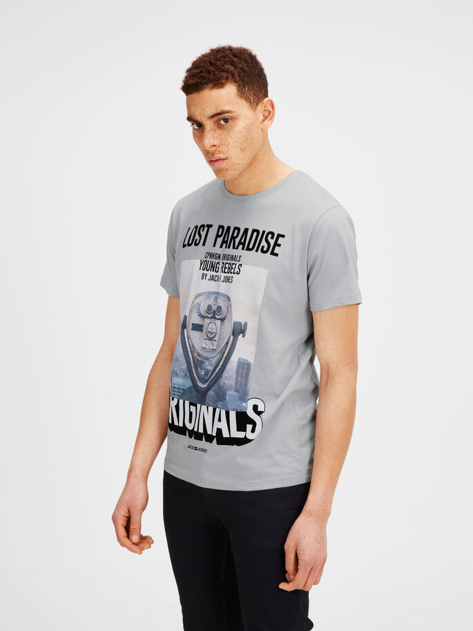 IMPRIMÉ T-SHIRT, Mirage Gray, large